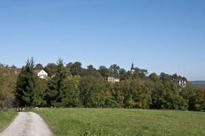 Blick auf Dornburg