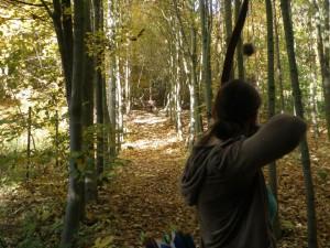 Bogenschützen im Stöbner Wald