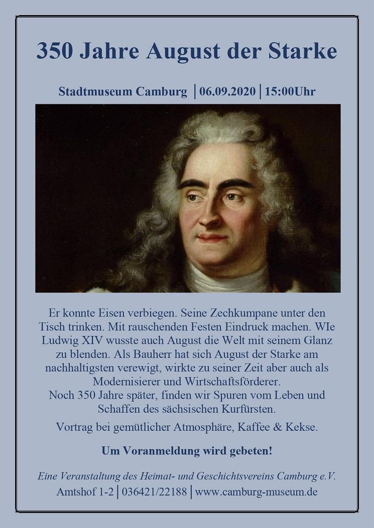 350 Jahre August der Starke @ Stadtmuseum Camburg