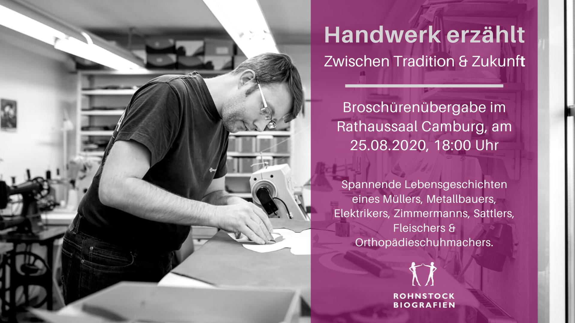 Buchpremiere: Handwerkergeschichten aus Dornburg-Camburg @ Kleiner Rathaussaal