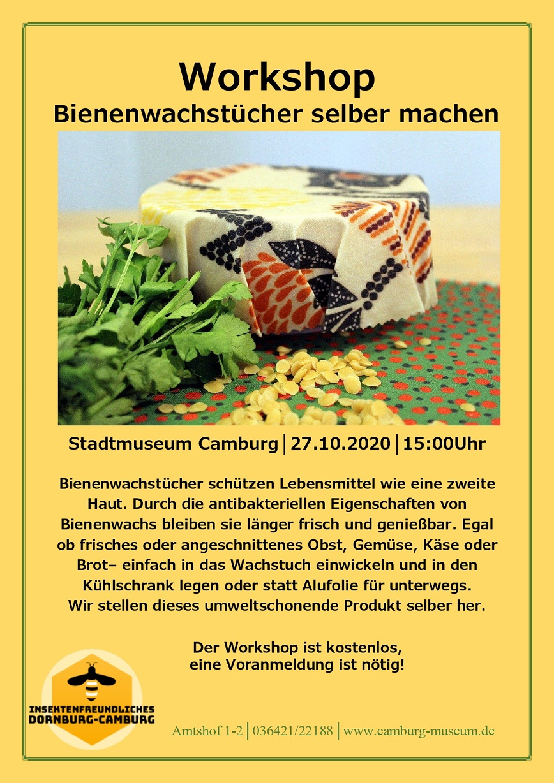 Workshop: Bienenwachstücher selber herstellen @ Stadtmuseum Camburg