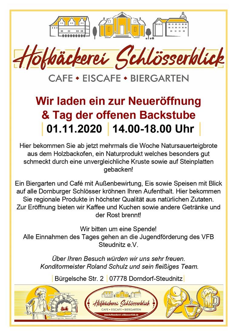 "Neueröffnung & Tag der offenen Bäckerei @ ""Hofbäckerei Schlösserblick"""