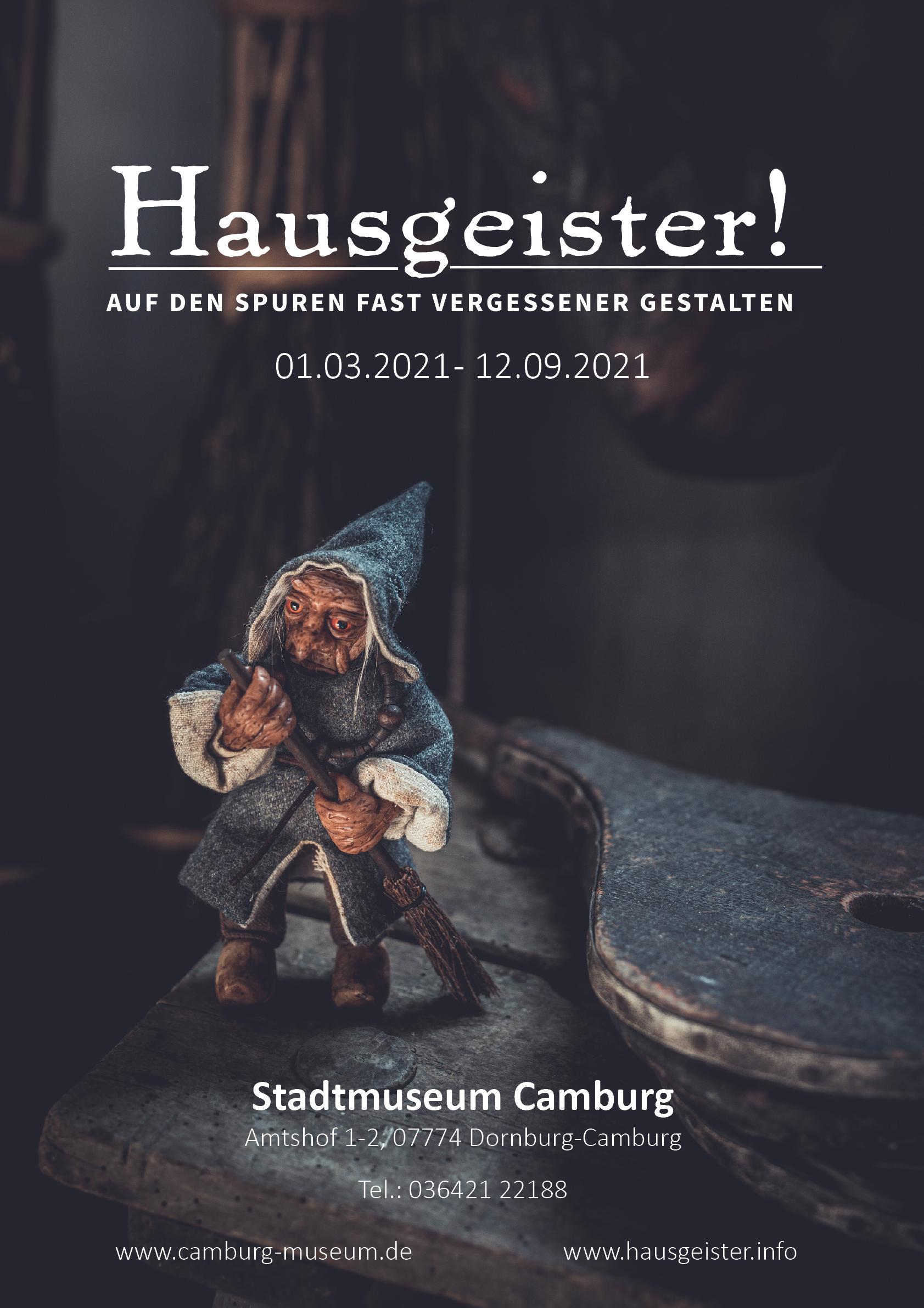 Ausstellungsbeginn: Hausgeister. Auf den Spuren fast vergessener Gestalten @ Stadtmuseum Camburg