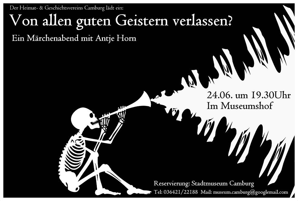 Von allen guten Geistern verlassen? - Ein Märchenabend mit Antje Horn @ Stadtmuseum Camburg